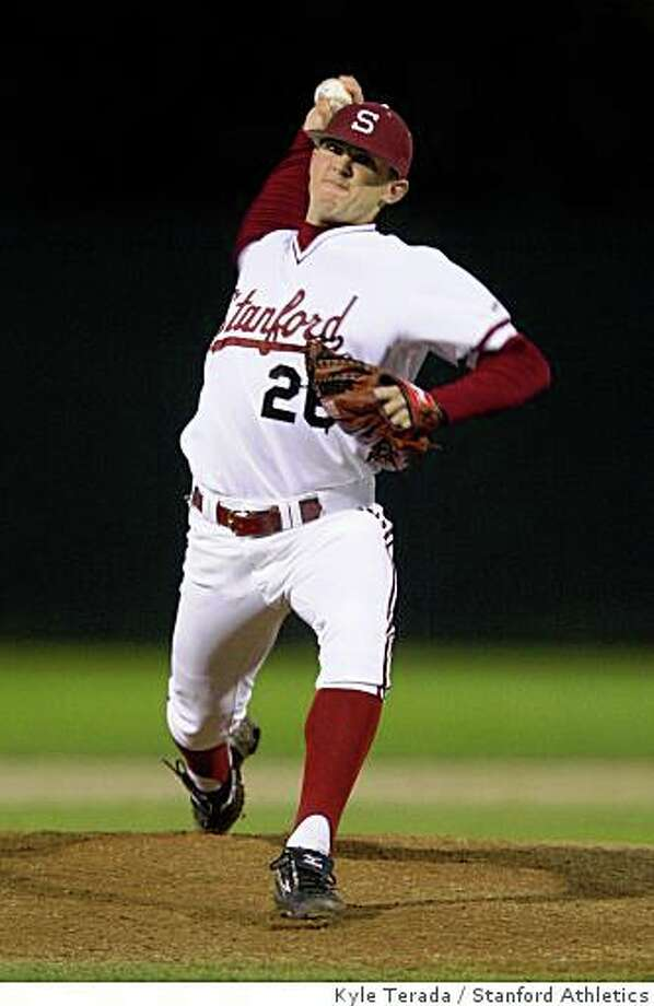 Stanford pitcher Drew Storen during Stanford's 4-2 loss against St. Mary's at Sunken Diamond in Stanford, CA, on Feb. 25, 2008. Photo: Kyle Terada, Stanford Athletics