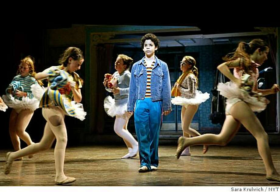 "David Alvarez in ""Billy Elliot"" at the Imperial Theater in New York. ""Bily Elliot"" is the favorite for the Tony for Best Musical, but not a shoo-in. Photo: Sara Krulwich, NYT"