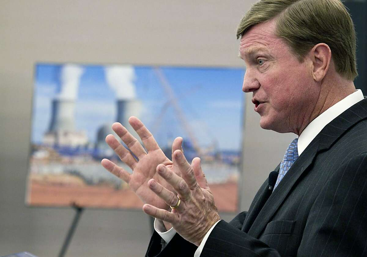 Southern Company Chairman, President and C.E.O. Thomas Fanning announces that the Nuclear Regulatory Commission voted 4-1 to approve the Atlanta-based company's request to build two nuclear reactors at its Vogtle site south of Augusta, during a news conference in Atlanta Thursday, Feb. 9, 2012. The NRC last approved construction of a nuclear plant in 1978, a year before a partial meltdown of the Three Mile Island nuclear plant in Pennsylvania.