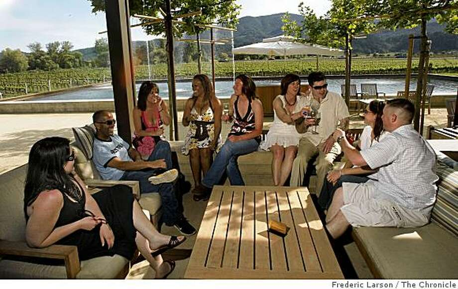 Alpha Omega Winery in Rutherford has a comfortable setting right outside the tasting room for small groups to relax. Photo: Frederic Larson, The Chronicle