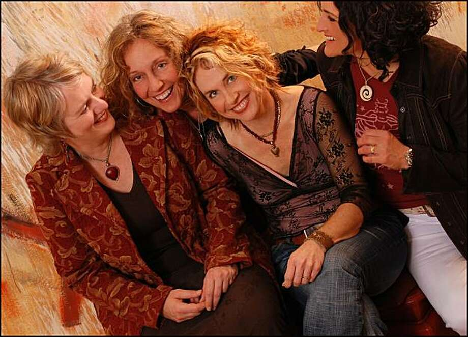 The band Blame Sally. From left:  Monica Pasqual, Jeri Jones, Renée Harcourt, Pamela Delgado. The band performs Saturday at Freight & Salvage in Berkeley. Photo: Irene Young