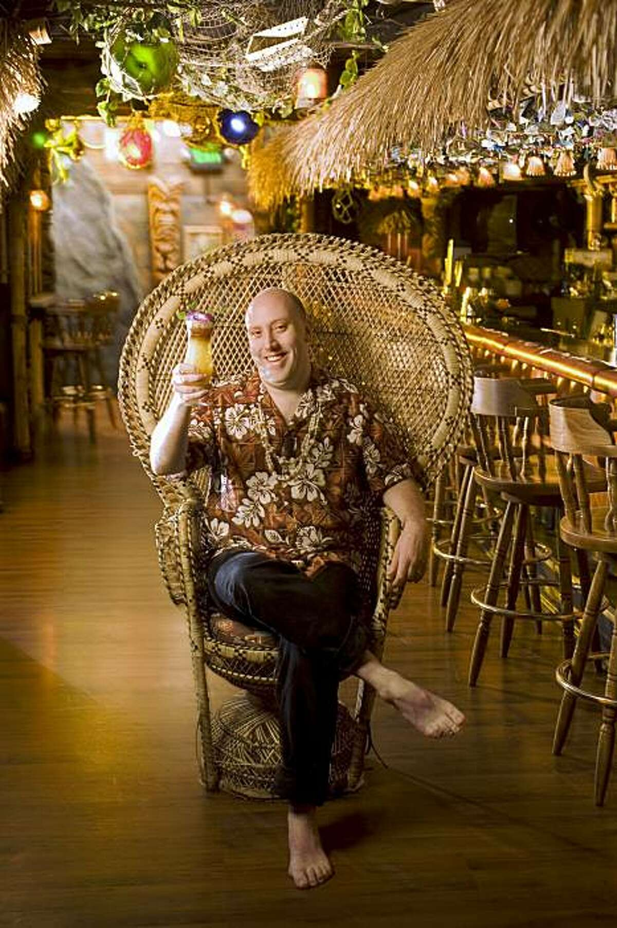 Martin Cate, bartender at Forbidden Island in Alameda. on 1/22/08 in Alameda. photo by Craig Lee / The Chronicle