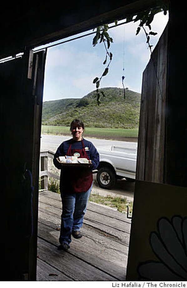 Monique Hodgkinson with her soaps in Pescadero, Calif., on Tuesday, May 19, 2009.  Monique Hodgkinson stumbled into business for herself after she was laid off from her job in Silicon Valley and spent two years in the unsuccessful hunt for another full-time position. Photo: Liz Hafalia, The Chronicle