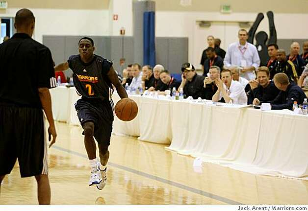 Darren Collison at an NBA pre-draft camp at the Arena in Oakland on June 2, 2009. Photo: Jack Arent, Warriors.com