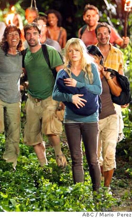"**REPLACES PREVIOUS NYET370 HIGHER RES IMAGE** In this photo released by ABC shows a scene from the season premiere episode, of ""Lost"" title ""The Beginning of the End,"" feeling that their rescue is close at hand, the survivors don't know whether to believe Charlie's final message that the people claiming to liberate them are not who they seem to be. (AP Photo/Mario Perez,ABC)  Ran on: 01-30-2008  Season 4 of ABC's &quo;Lost&quo; will not disappoint avid fans, but ABC is trying to bring in new viewers by offering &quo;catch-up&quo; screenings of the Season 3 finale and a recap show of &quo;Lost&quo; stories and characters from the past three seasons. Season 4 is shaping up to be as fast-paced as the second half of Season 3. Photo: MARIO PEREZ"