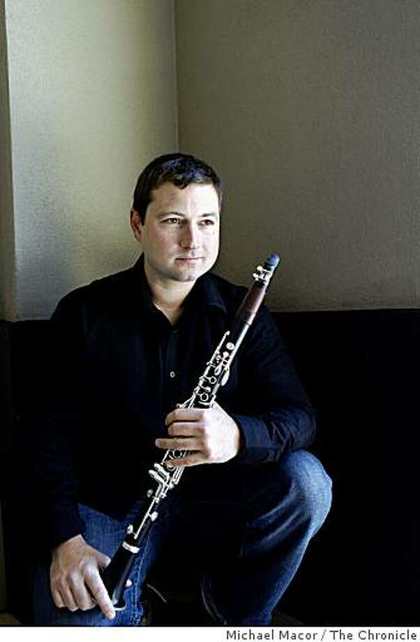 Paul Miller poses for a portrait outside the Conservatory of Music where he studies the clarinet,  in San Francisco, Ca. on Friday May 22, 2009. Photo: Michael Macor, The Chronicle