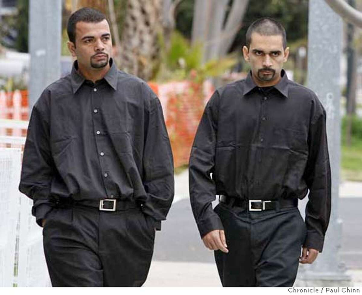 Sunny Dhaliwal (left) escorts his brother Kulbir, one of the two brothers injured in the tiger attack, from funeral services for 17-year-old Carlos Sousa, Jr. in San Jose, Calif. on Tuesday, Jan. 8, 2008. Sousa was killed in the Christmas Day tiger attack at the San Francisco Zoo. PAUL CHINN/The Chronicle **Sunny Dhaliwal, Kulbir MANDATORY CREDIT FOR PHOTOGRAPHER AND S.F. CHRONICLE/NO SALES - MAGS OUT