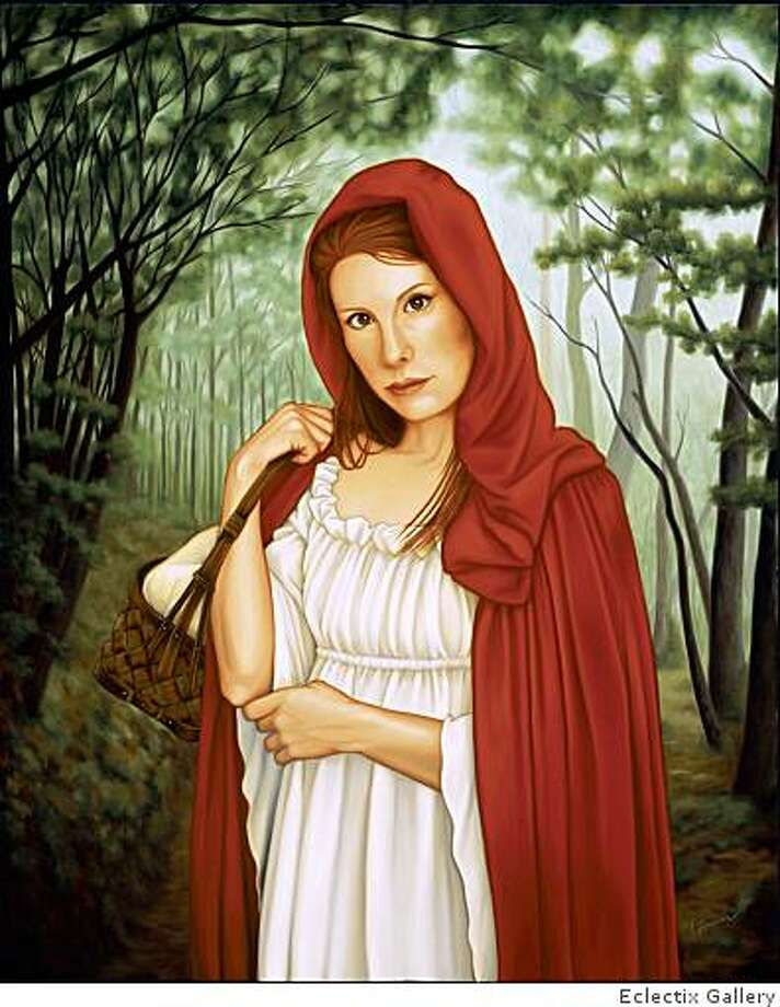 "Isabel Samaras's ""Femina in Fabula"" presents an enigmatic, formidable Little Red Riding Hood, one of the many offerings at the ""All Gurlz Again"" exhibition at Eclectix Gallery. The artist will be signing copies of her new book at the closing reception on June 20th. Photo: Eclectix Gallery"