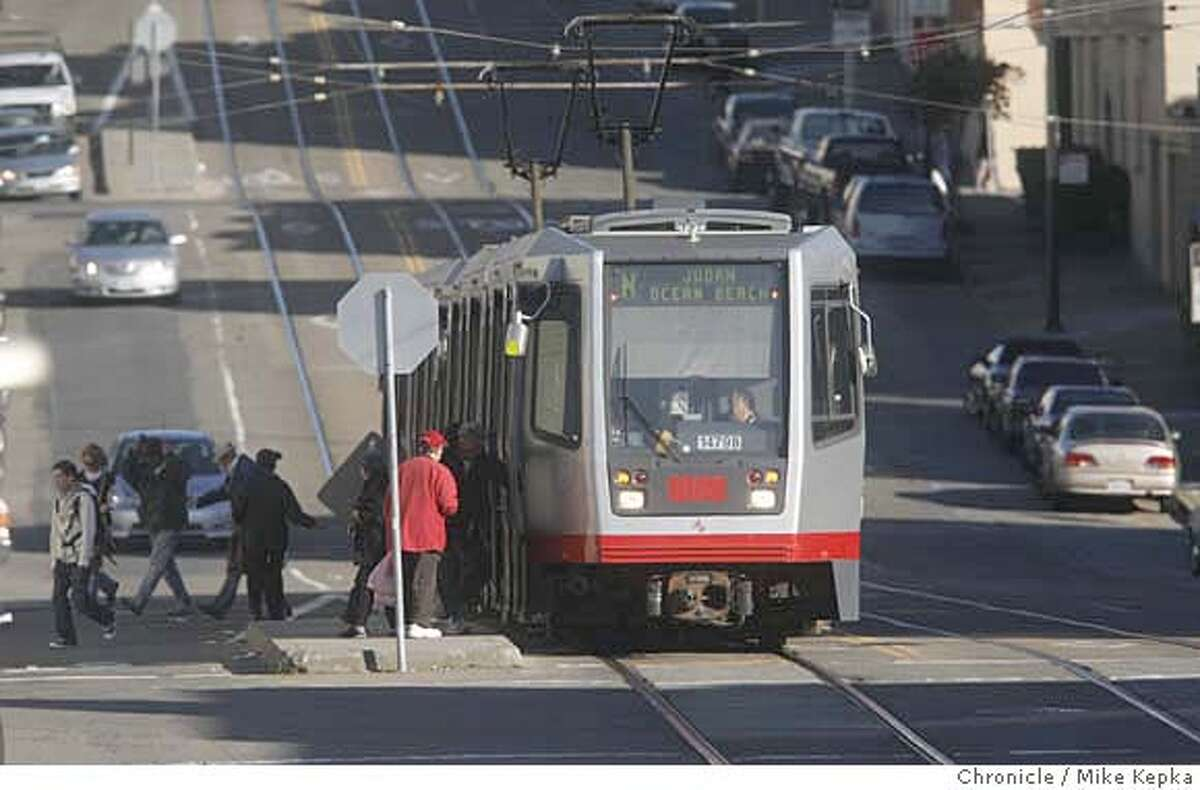 Late Wednesday evening an inbound N Judah train hit and killed a person. Witnesses said the blocks between 30th Avenue and 28th Avenue where closed for several hours for emergency crews. In 2007, 7 people were reportedly killed by MUNI and the death toll in 2008 is growing. Mike Kepka / The Chronicle MANDATORY CREDIT FOR PHOTOG AND SAN FRANCISCO CHRONICLE/NO SALES-MAGS OUT