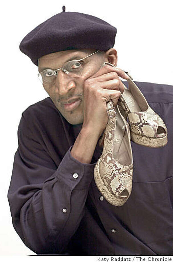 Ardis Taylor restores vintage clothing and shoes--specializing in shoes. He's shown with a luscious pair of 1940s python open heel and toe platforms made by Palizzio, sold from Joseph Magnin in SF. Ardis wears a timeless beret. Photo: Katy Raddatz, The Chronicle