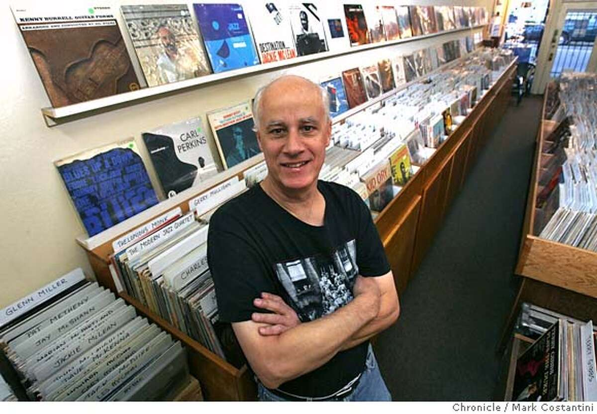 Rick Ballard owner of the venerable jazz record store the Groove Yard in his store. Mark Costantini / The Chronicle Photo taken on 12/13/07, in Oakland, CA, USA MANDATORY CREDIT FOR PHOTOG AND SAN FRANCISCO CHRONICLE/NO SALES-MAGS OUT