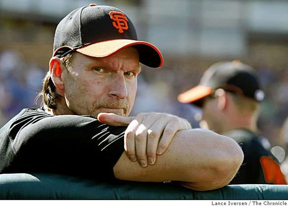 Giants pitcher Randy Johnson took the day off as The San francisco Giants Vs. The Los Angeles Dodgers  Thursday February 26, 2009 At  Scottsdale Stadium, in Scottsdale Arizona Photo: Lance Iversen, The Chronicle