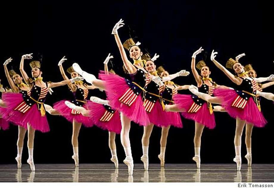 San Francisco Ballet School students in Balanchine's Stars And Stripes. Photo: Erik Tomasson