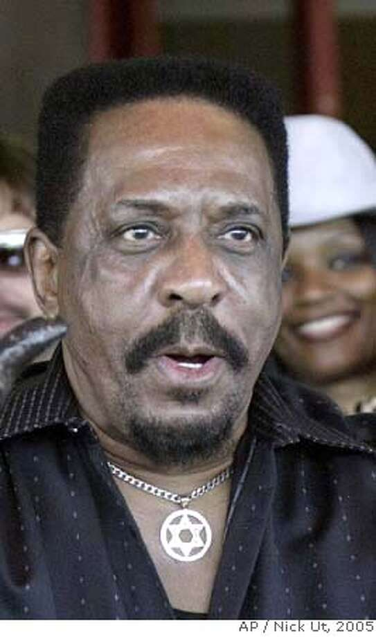 **FILE** Ike Turner poses during a ceremony inducting him into the Hollywood Rock Walk, on April 4, 2005, in Los Angeles. A medical examiner has found that musician Ike Turner died of a cocaine overdose, according to a report Wednesday Jan. 16, 2008. (AP Photo/Nick Ut, File) APRIL 4 2005 FILE Photo: NICK UT