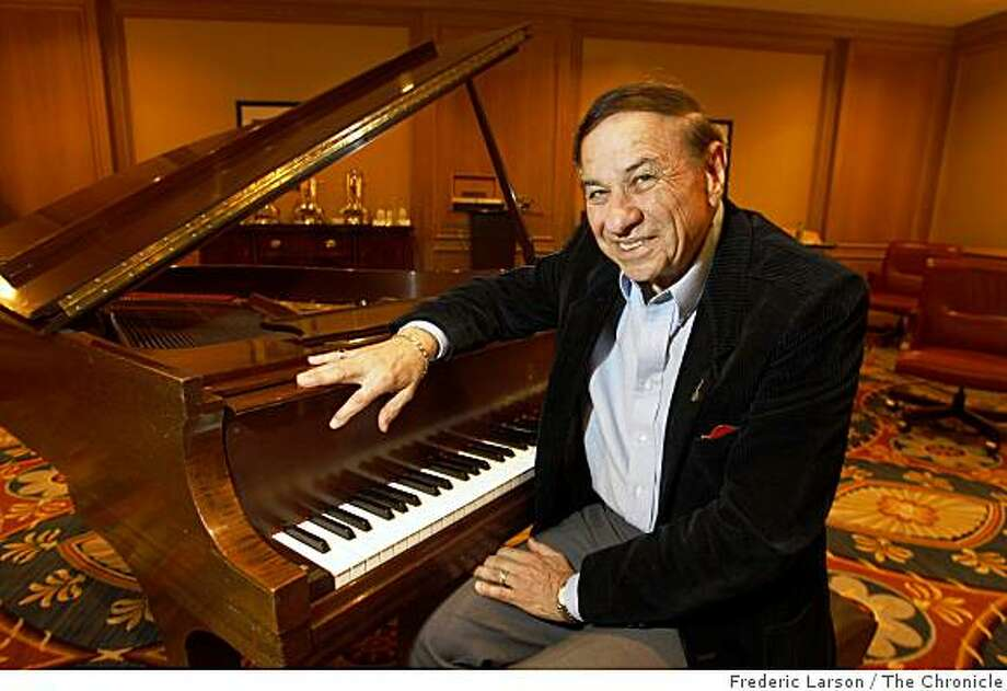 Richard Sherman, of the famed Sherman Bros. posed for a portrait sitting at a piano in San Francisco on April 24, 2009. Photo: Frederic Larson, The Chronicle