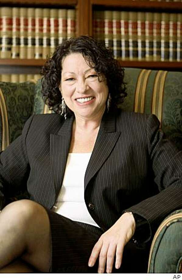 This undated handout photo provided by the White House shows Sonia Sotomayor in 2009. Earlier this week, President Barack Obama nominated Sotomayor to the Supreme Court to replace the retiring Justice David Souter. (AP Photo/White House) Photo: AP