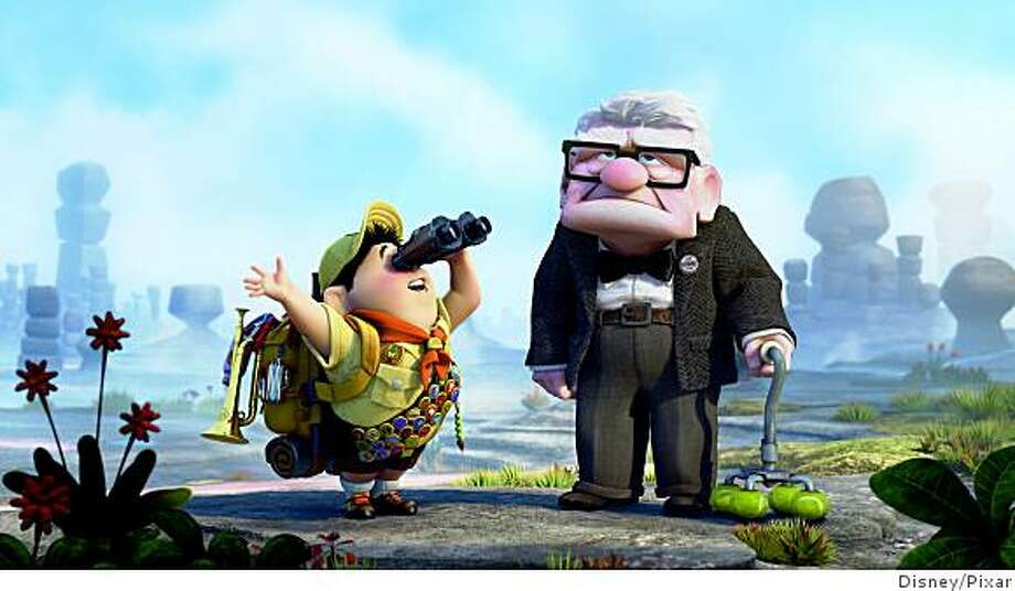"(L-R) Russell and Carl Fredricksen  in ""Up""""UP"" Photo: Disney/Pixar"