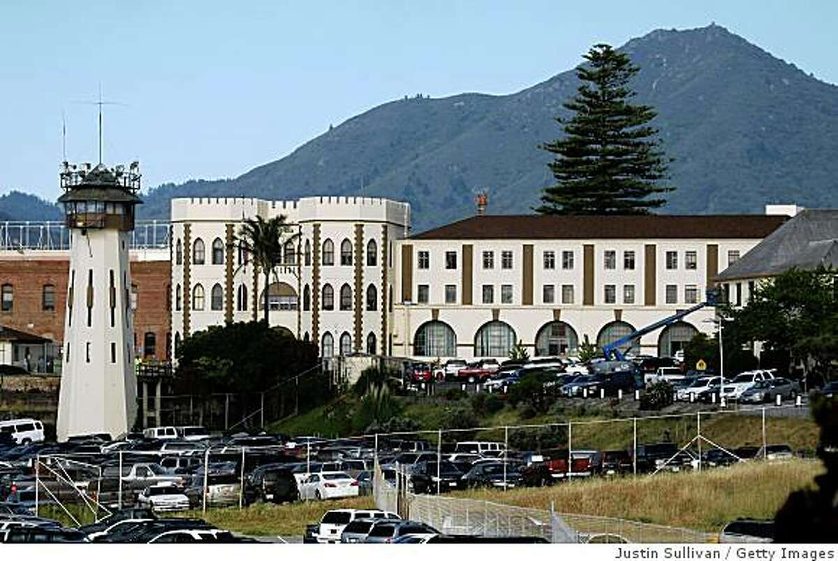 SAN QUENTIN, CA - MAY 15: A view of the California State Prison at San Quentin May 15, 2009 in San Quentin, California. In an effort to raise cash to help California's financial woes, California governor Arnold Schwarzenegger is proposing to sell some well known State properties. The Los Angeles Coliseum, San Quentin State Prison, The Cow Palace and the Orange County fairgrounds are some of the properties that the governor has named. (Photo by Justin Sullivan/Getty Images)