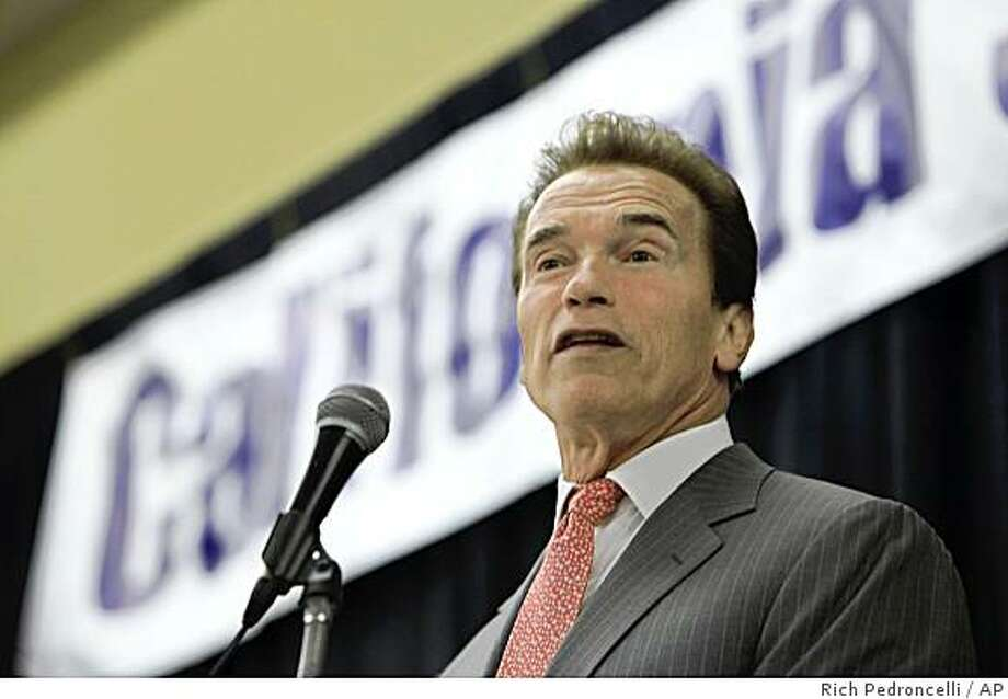 Facing a growing state budget deficit, that could reach nearly $24 billion,  Gov. Arnold Schwarzenegger said he will seek an additional $5.5 billion in cuts, while speaking at the California Small Business Day 2009 in Sacramento, Calif., Tuesday, May 26, 2009. (AP Photo/Rich Pedroncelli) Photo: Rich Pedroncelli, AP