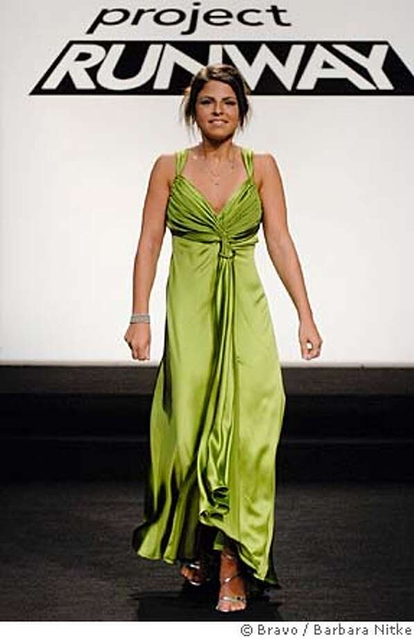 """PROJECT RUNWAY -- """"What a Girl Wants"""" Episode 407 -- Pictured: Krista in a prom dress by Chris March -- Bravo Photo: Barbara Nitke / Bravo FOR EDITORIAL USE ONLY -- NOT FOR RESALE -- DO NOT ARCHIVE Photo: Barbara Nitke / Bravo"""