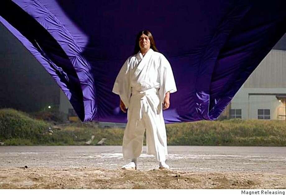 """Hitoshi Matsumoto in """"Big Man Japan."""" Photo: Magnet Releasing"""