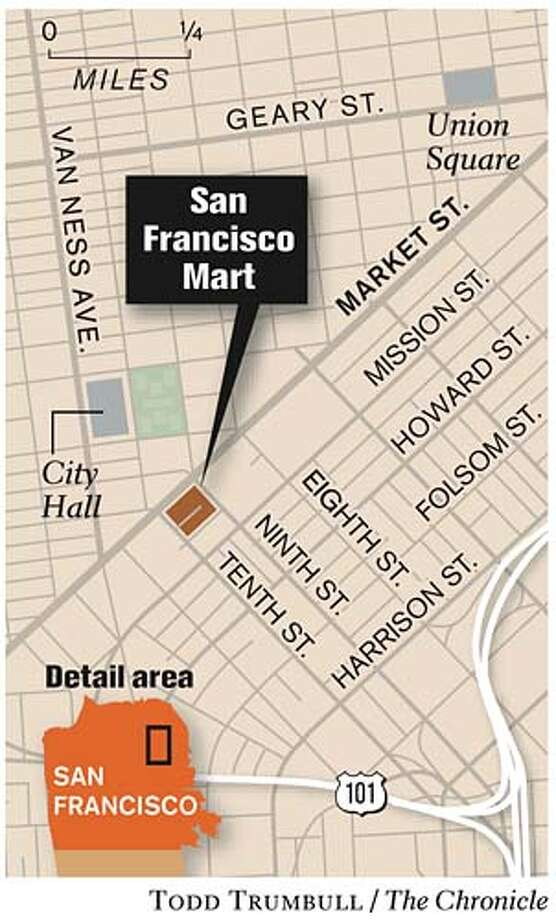 San Francisco Mart location. Chronicle graphic by Todd Trumbull