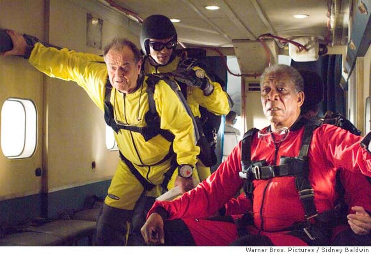 (L-r) JACK NICHOLSON as Edward, IAN ANTHONY DALE as the instructor and MORGAN FREEMAN as Carter in Warner Bros. Pictures� comedy drama �The Bucket List.� PHOTOGRAPHS TO BE USED SOLELY FOR ADVERTISING, PROMOTION, PUBLICITY OR REVIEWS OF THIS SPECIFIC MOTION PICTURE AND TO REMAIN THE PROPERTY OF THE STUDIO. NOT FOR SALE OR REDISTRIBUTION.