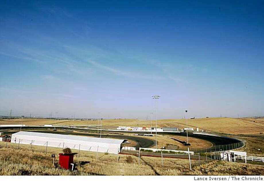 A warm harsh wind cuts through the abandoned, or no-longer-in-use Altamont Motorsports Park in Tracy Ca Thursday, May 21, 2009. Photo: Lance Iversen, The Chronicle