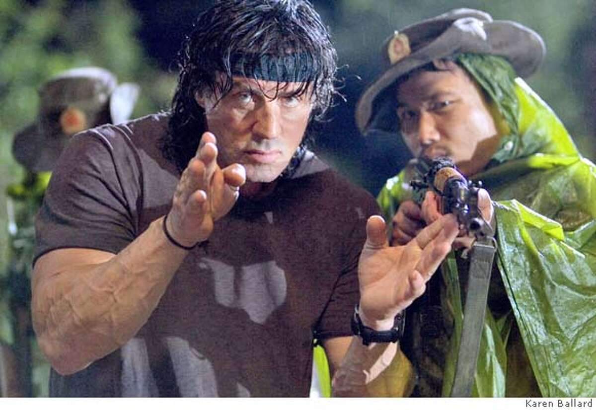 8. RAMBO writer-director Sylvester Stallone at work on the set of RAMBO, filmed in Thailand. Photo credit: Karen Ballard. Ran on: 01-20-2008 Sylvester Stallone is John Rambo again in 2008s Rambo. Stallone has posted a remarkable number of good and so-bad-its-good movies in his career. Ran on: 01-20-2008 Sylvester Stallone is John Rambo again in 2008s Rambo. Stallone has posted a remarkable number of good and so-bad-its-good movies in his career.