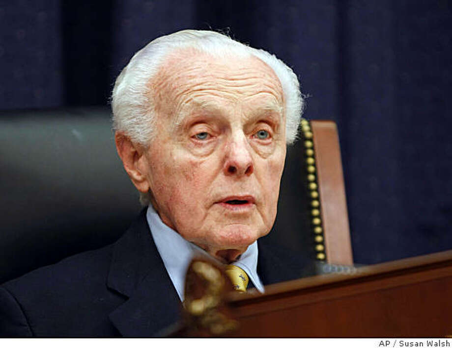 ** FILE ** House Foreign Affairs Committee Chairman Rep. Tom Lantos, D-Calif., speaks during a hearing on Capitol Hill in Washington in this June 26, 2007  file photo. Lantos, a California Democrat and chairman of the House Foreign Affairs Committee, announced on Wednesday, Jan. 2, 2008, that he will not seek re-election this year because he has cancer of the esophagus. (AP Photo/Susan Walsh) Photo: Susan Walsh, AP