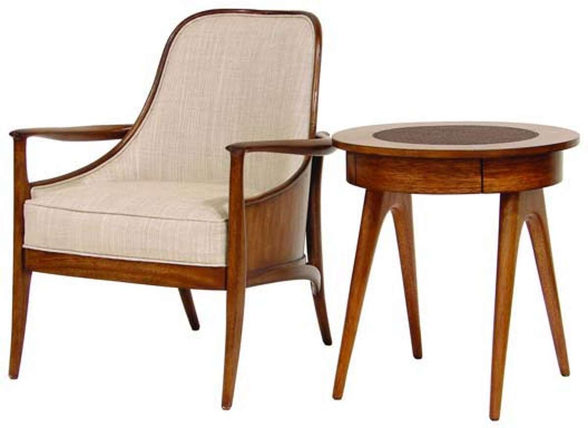 Palecek's Woodland collection reflects a growing desire for eco-friendly furniture in lighter woods. It's crafted of mahogany veneer from plantation-grown trees, and is upholstered in Organic Hopsack, one of six new