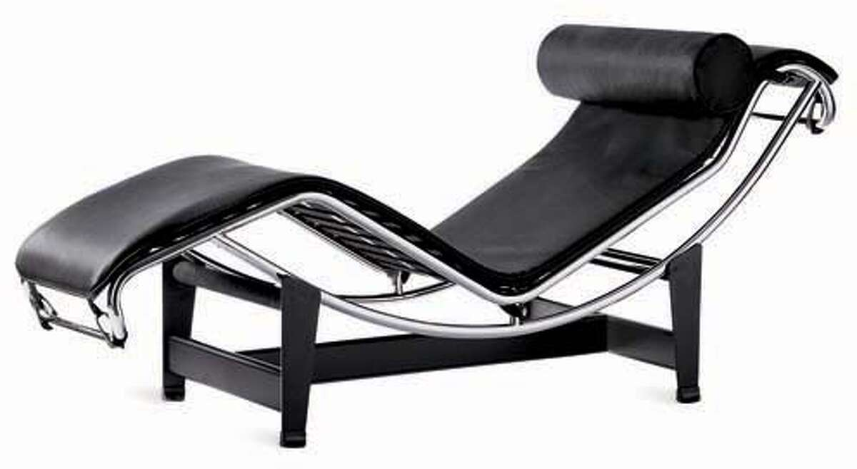 Le Corbusier Chaise in Black. Ran on: 03-23-2005 Le Corbusier Chaise in black ($1,498) available from Design Within Reach in San Francisco or online (www.dwr.com).