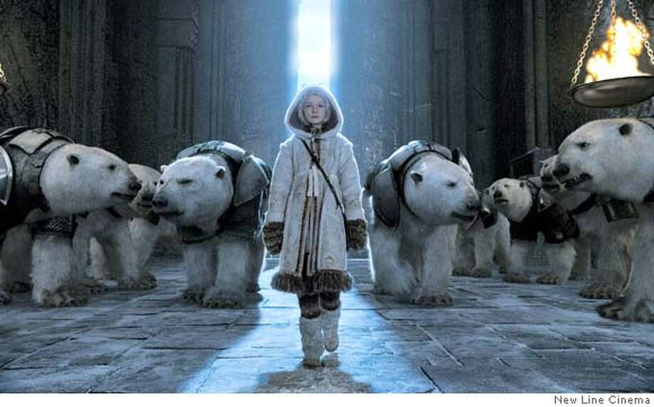 "His Dark Materials trilogy by Philip Pullman – On the American Library Association's list of frequently challenged books, it ranked No. 2 in 2008, No. 4 in 2007 – Some objected to the book's anti-religious themes and depictions of violence. Above, a scene from 2007's ""The Golden Compass.""  Photo: New Line Cinema"