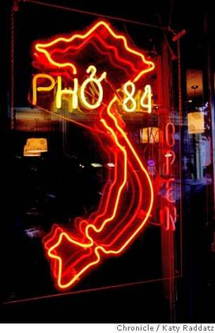 STREETDATE17  Pho 84 is a Vietnamese restaurant at 35417th Street in Oakland, south of Broadway, an area known to locals as SOBO (South of Broadway). These pictures were made in Oakland, CA. on Thursday, Jan. 10, 2008. KATY RADDATZ/The Chronicle Photo: KATY RADDATZ