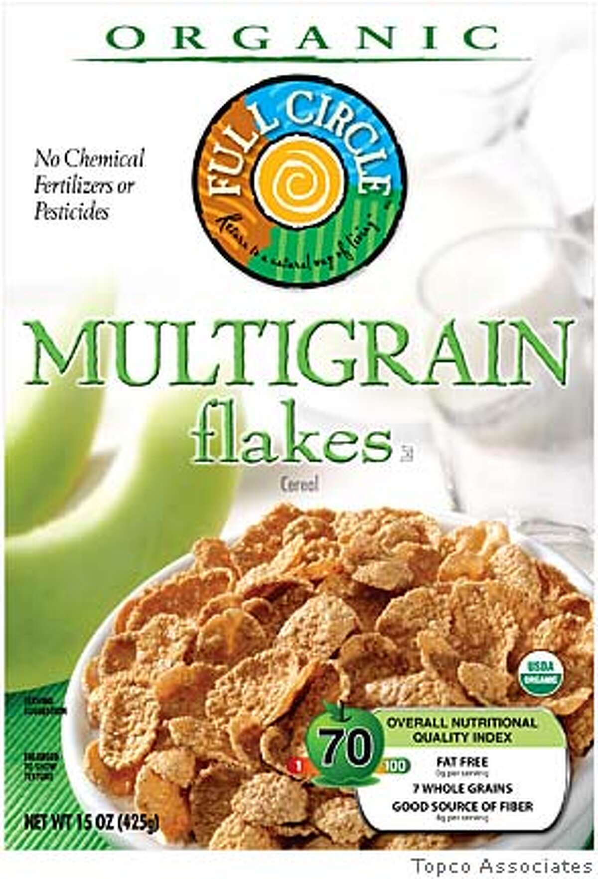 New label on a cereal box