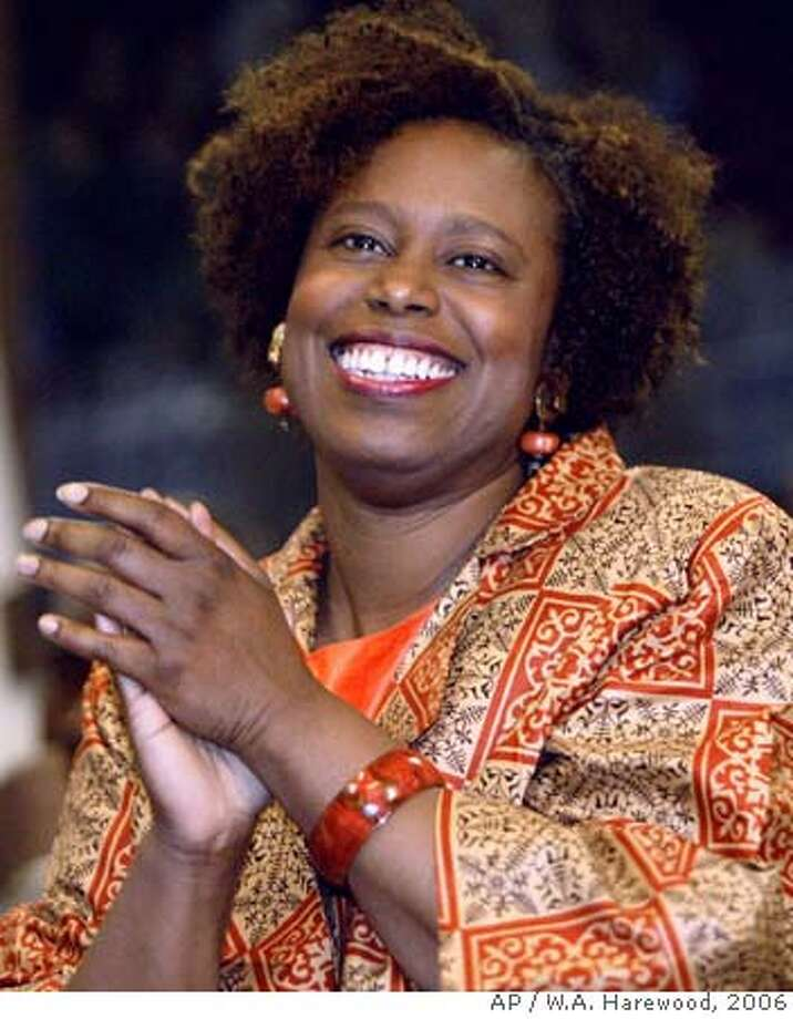 Rep. Cynthia McKinney, D-Ga.,is shown during a news conference in Atlanta, Monday, April 3, 2006. When McKinney returned to Congress in 2004, friends and foes saw a quieter, more amiable version of the lawmaker who once suggested the Bush White House had prior knowledge of the Sept. 11 attacks. But now, as she aggressively defends herself for scuffling with a Capitol police officer, it is clear the makeover didn't last long. (AP Photo/W.A. Harewood)Ran on: 04-06-2006  Rep. Cynthia McKinney turned the incident into a crime when she struck an officer, police said.  Ran on: 06-17-2006  Rep. Cynthia McKinney apologized for the incident in which she struck a Capitol Police officer. PHOTO TAKEN MONDAY, APRIL 3, 2006. Photo: W.A. HAREWOOD