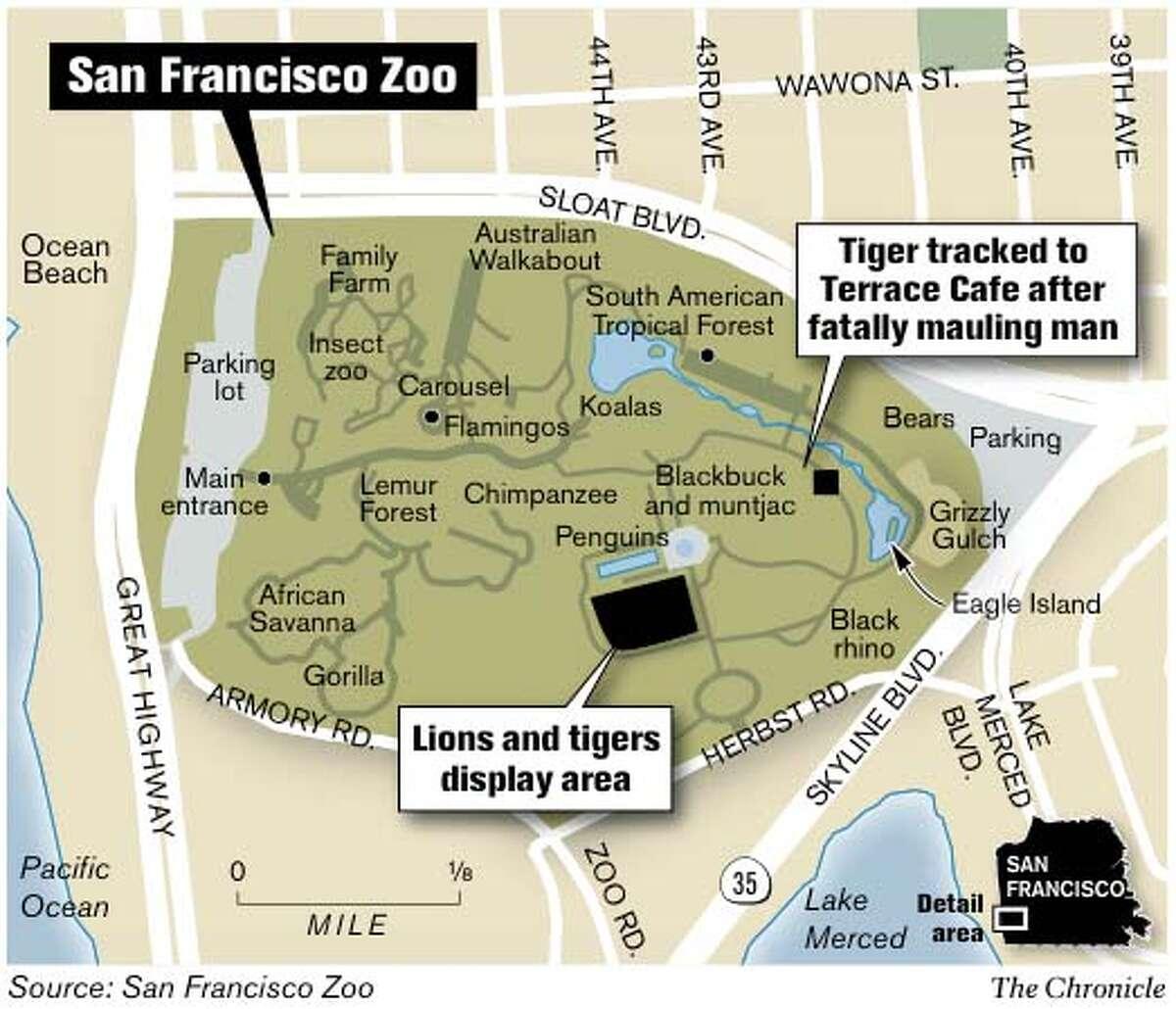 San Francisco Zoo. Chronicle Graphic