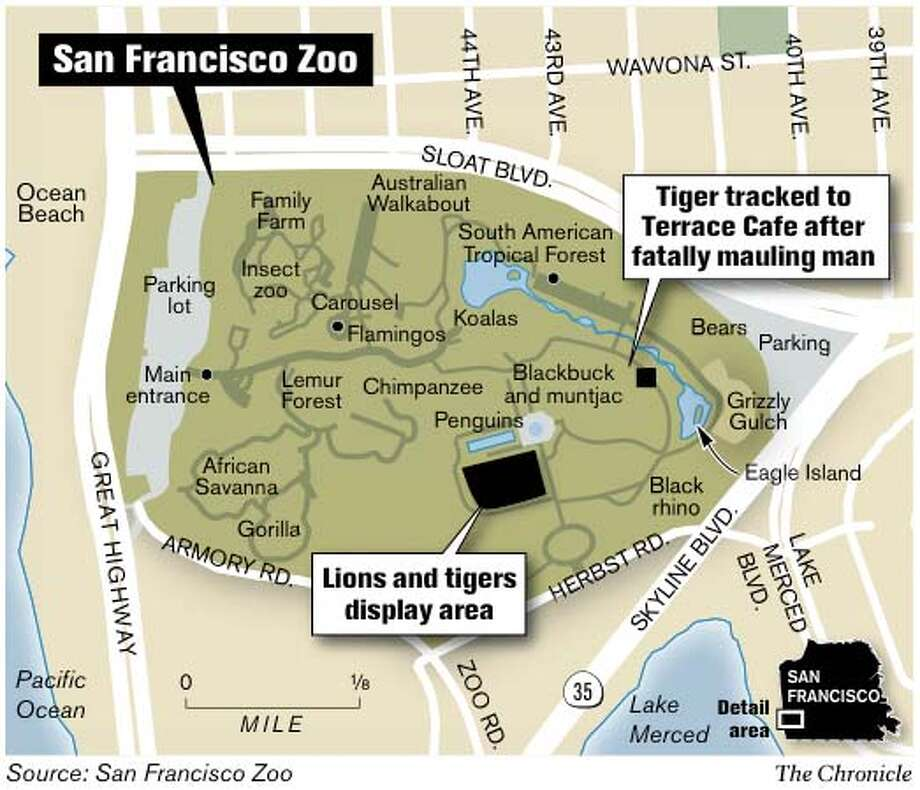 San Francisco Zoo. Chronicle Graphic