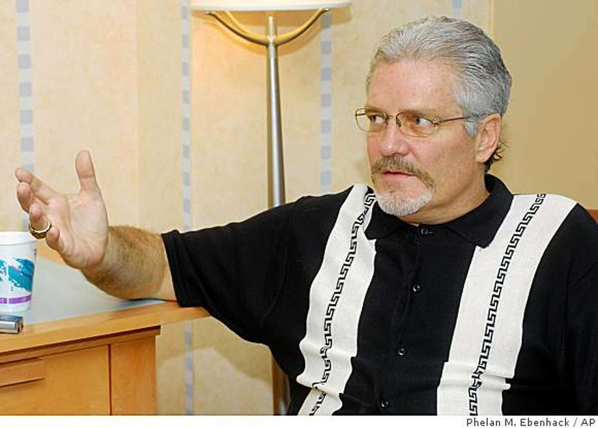 San Francisco Giants general manager Brian Sabean talks to reporters during the Major League Baseball winter meetings in Lake Buena Vista, Fla., Thursday, Dec. 7, 2006. (AP Photo/Phelan M.