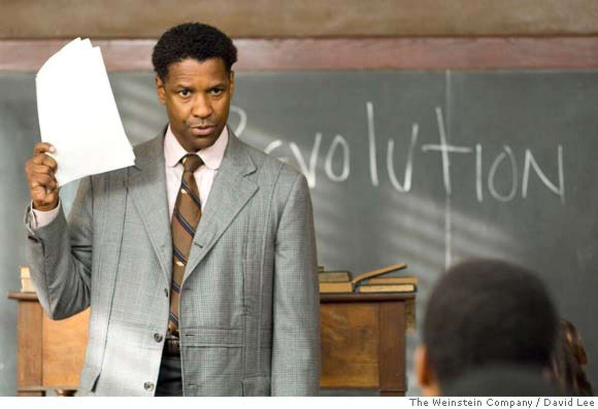 In this image released by The Weinstein Company, actor Denzel Washington is shown in a scene from