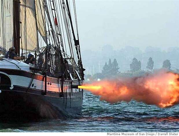 sailing ship fire smoke - photo #15