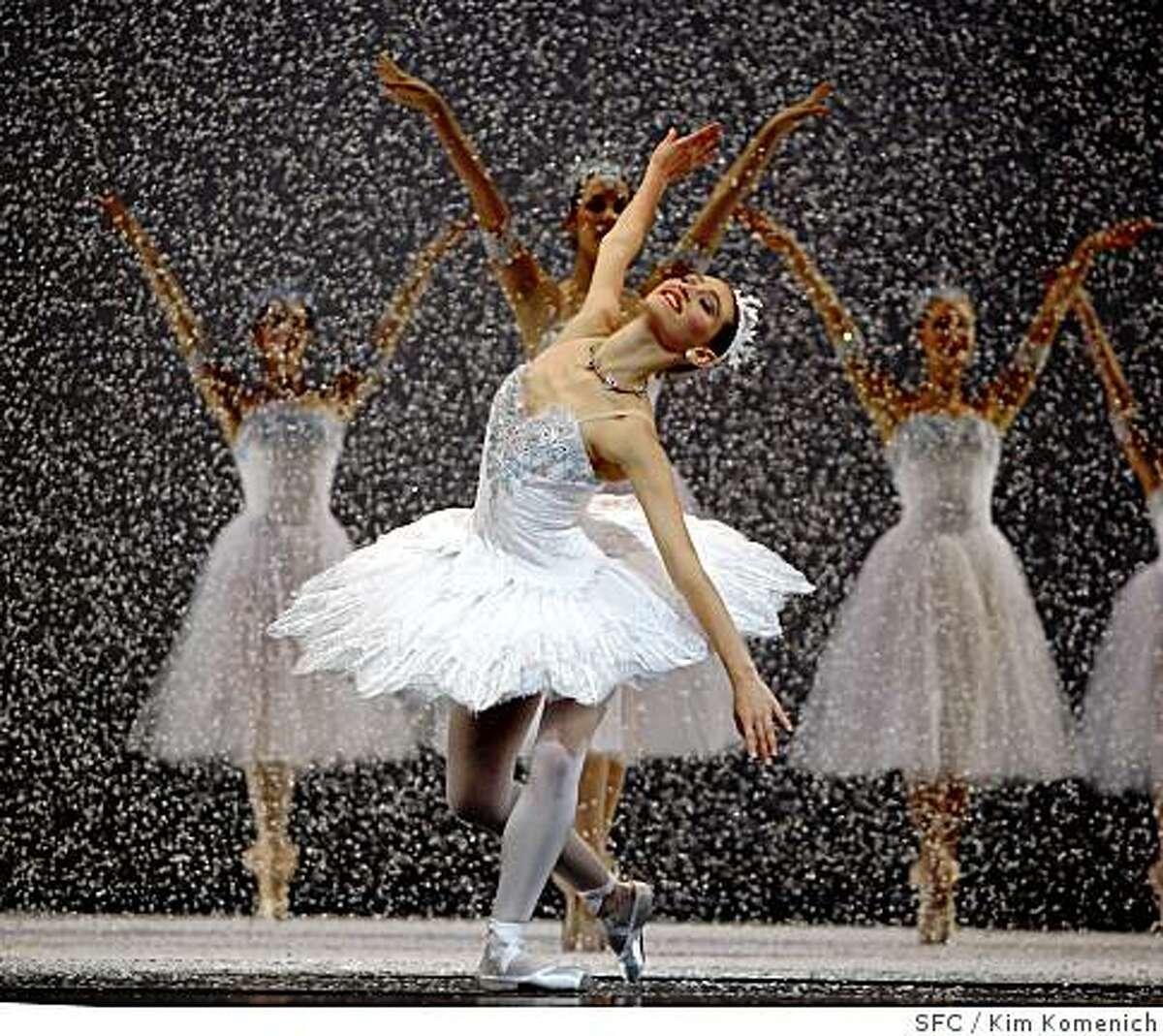 arah Van Patten is the Queen of the Snow in the San Francsico Ballet's