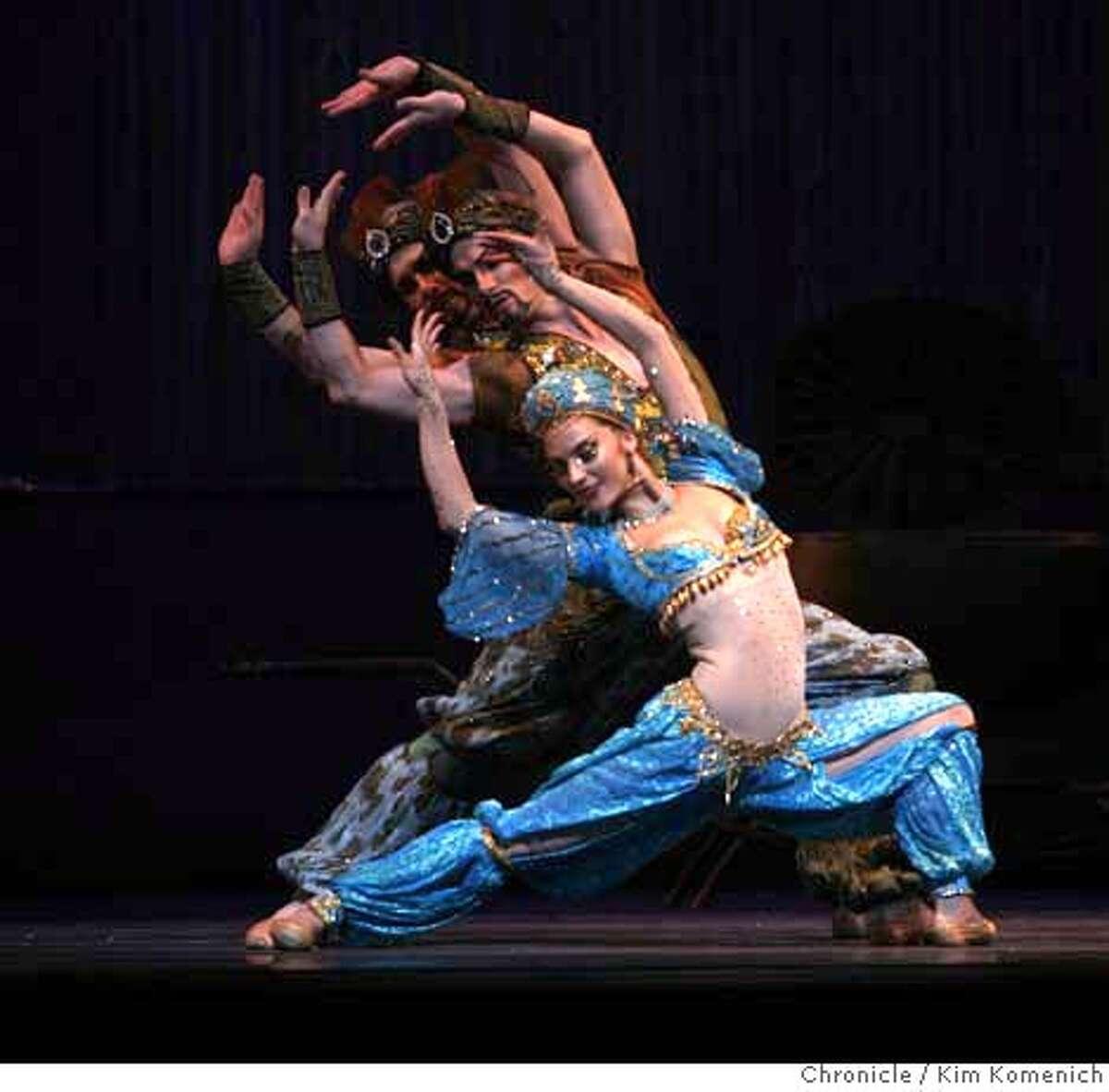 SFNUT_116_KK.JPG Front to back, Pauli Magierek, Aaron Orza and David Arce are the Arabian dancers in the San Francsico Ballet's