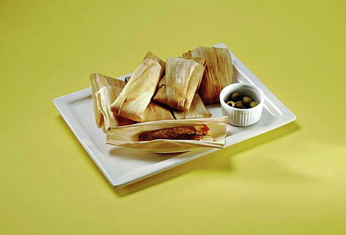 This is a photo of Tamales, styled by Tara Duggan.