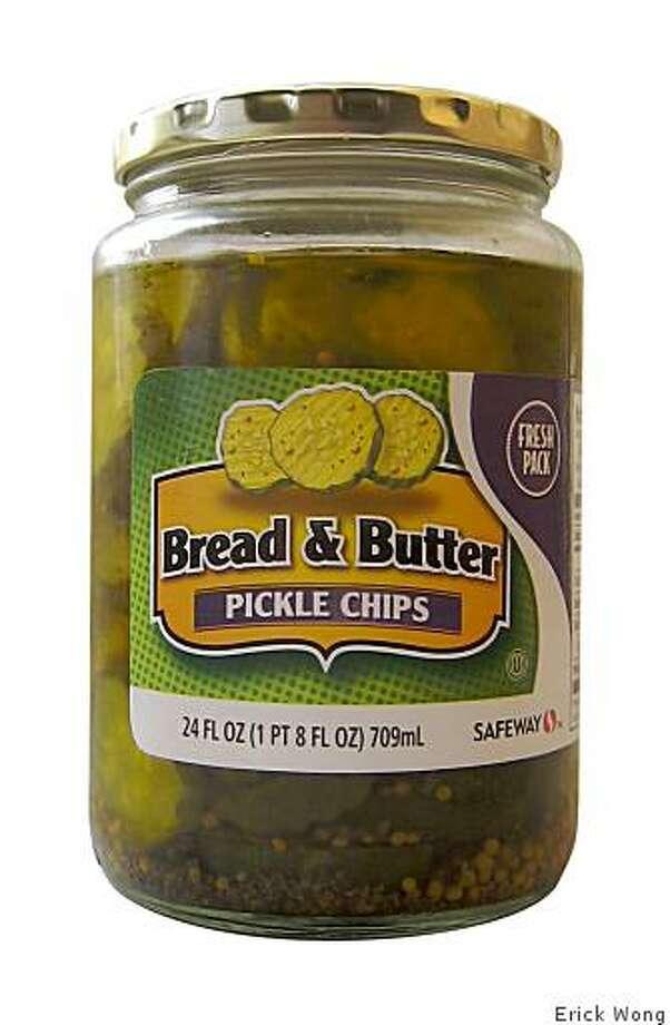 Safeway brand Bread & Butter pickle chips ($3.65/24 ounces). Photo: Erick Wong