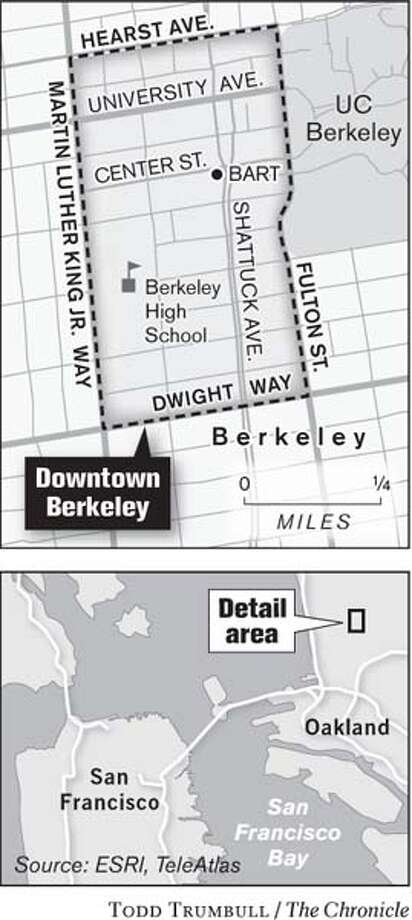 Downtown Berkeley. Chronicle graphic by Todd Trumbull