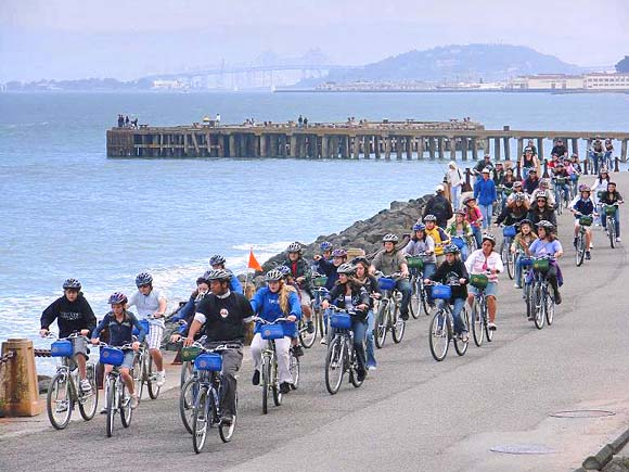 Bay Bike Ride From The Golden Gate Bridge To The