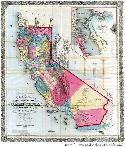 "Maps from ""Historical Atlas of California"" by Derek Hayes for the Dec. 1, 2007 book review section. Photo: Ho"