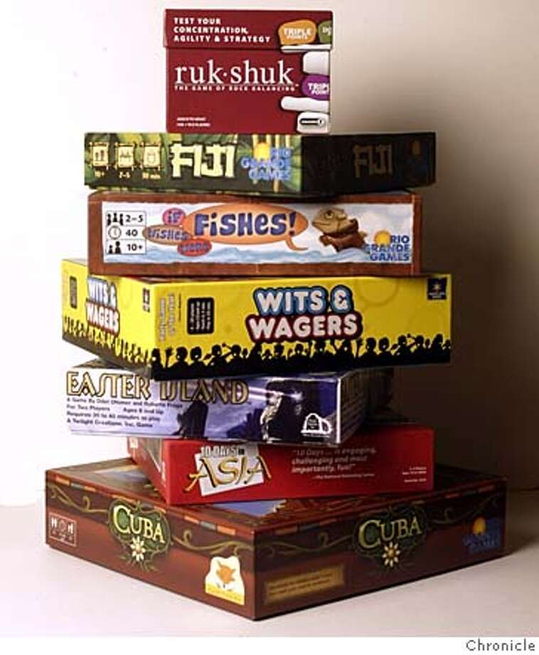 Popular board games for Sunday Datebook Board Game review. Review by Joshua Kosman Photo: HO