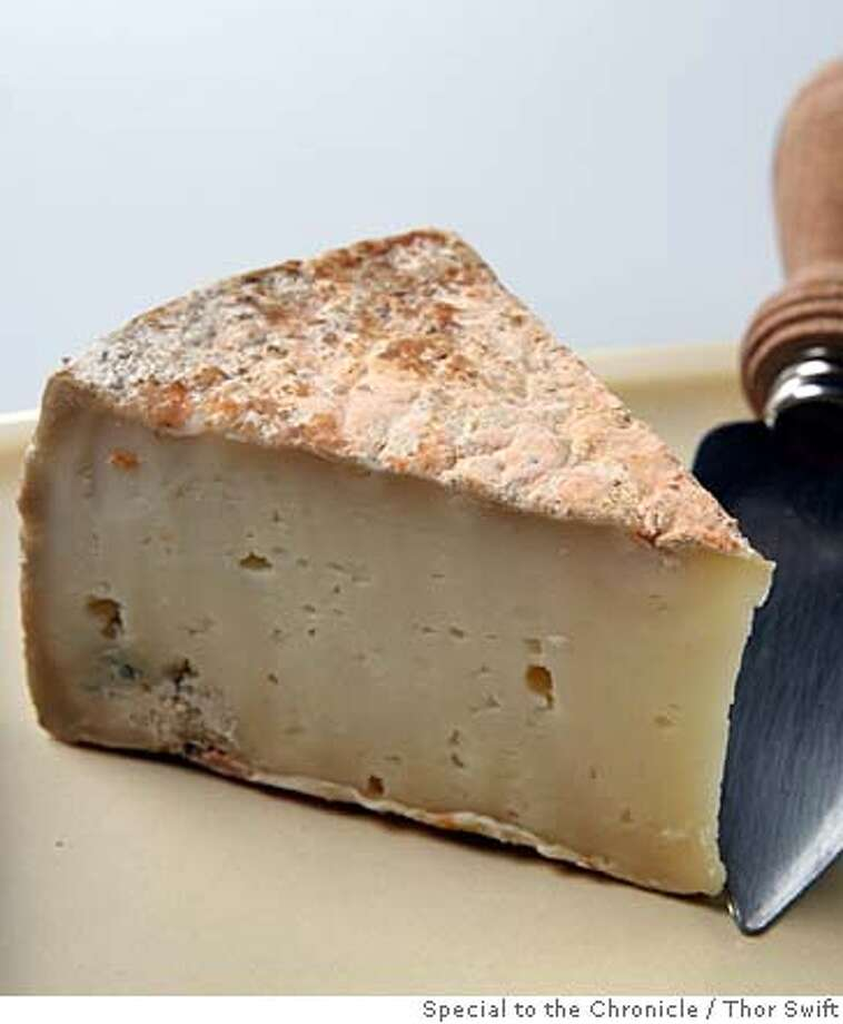La Clarine Sierra Mountain Tomme cheese photographed Thrusday, Oct. 25, 2007.  Thor Swift For The San Francisco Chronicle Photo: Thor Swift